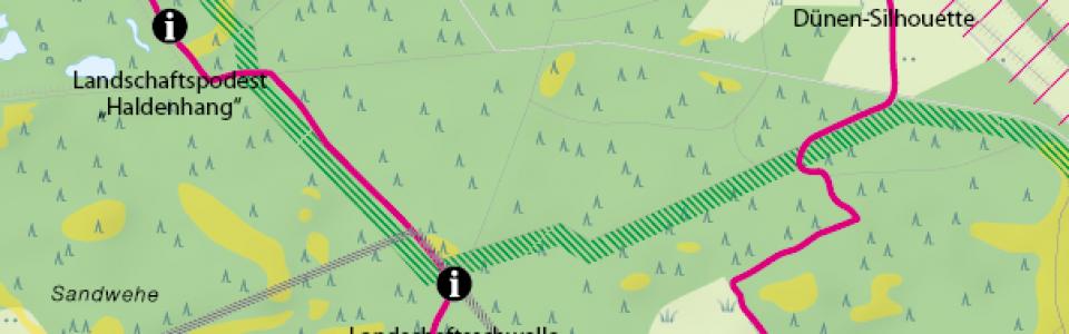 Dünenpfad Karte