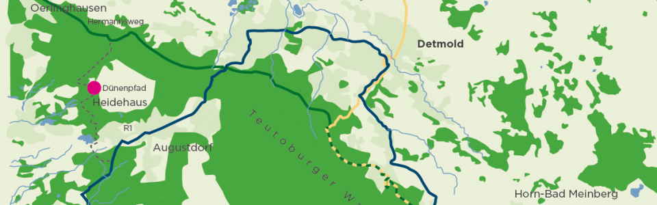 Teutoburger Wald Dünenpfad Heidehaus