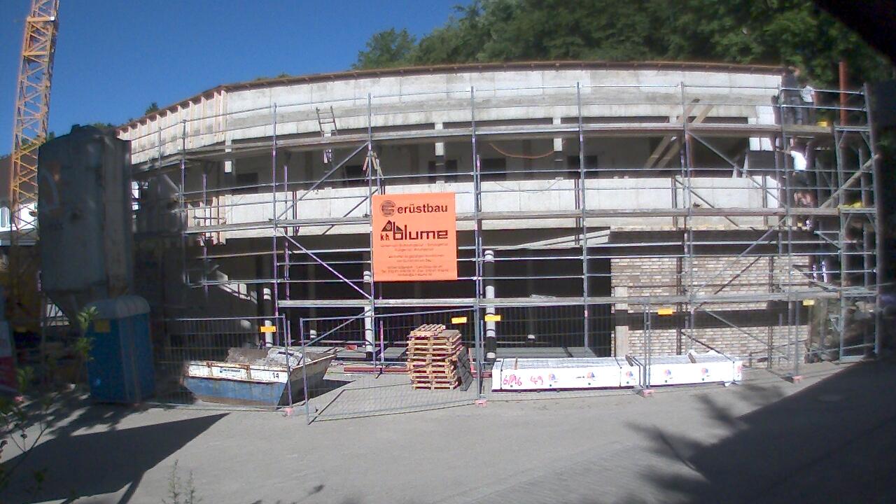 Bild der Baustellenkamera vom 01.07.2015 um 09:05 Uhr
