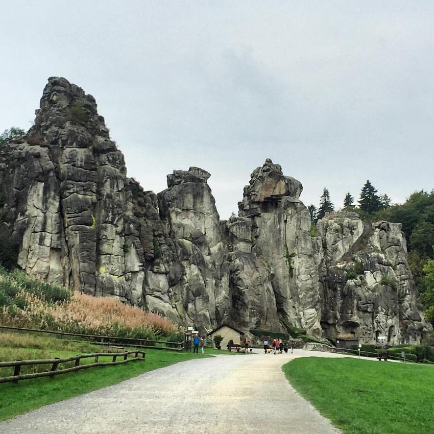 Die Externsteine bei Detmold im Teutoburger Wald